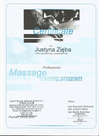 Cert Massage I