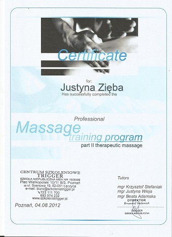 Cert massage II